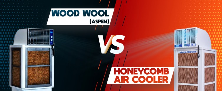 distinction between wood wool and a honeycomb air cooler